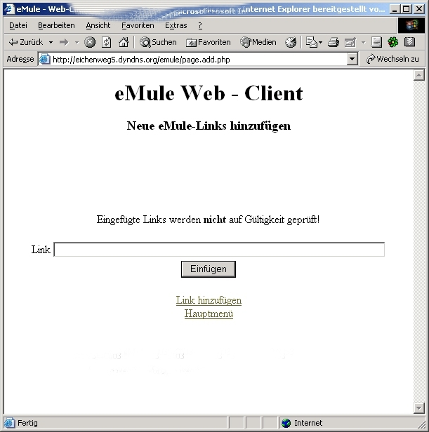 the browser client